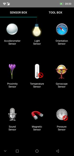 Обзор смартфона Ulefone X: SensorBox