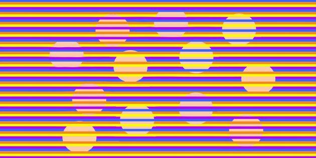 Иллюзия Манкера-Уайта: разноцветные круги, которые на самом деле одного цвета
