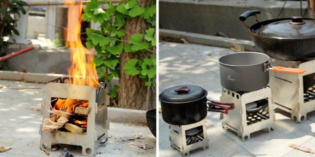 Что брать в поход: печка-щепочница
