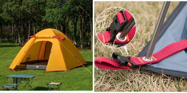 Что брать в поход: палатка на 3–4 человек