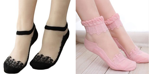 Красивые носки: ажурные носки
