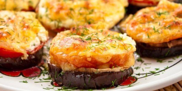 Баклажаны в духовке. Запечённые баклажаны с грибами и помидорами