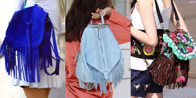 Самые модные рюкзаки с бахромой
