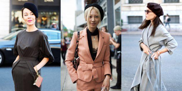 Модные вещи 2018: Чёрные береты