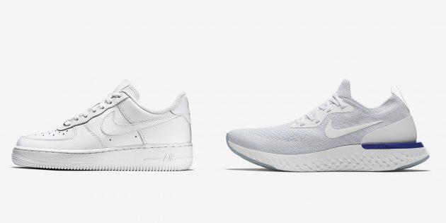 Новые кроссовки: Nike Air Force 1 и Nike Epic React