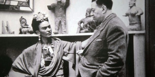 Фрида Кало и её муж Диего Ривера