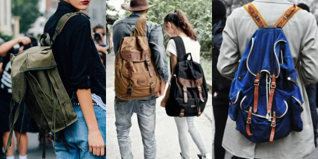 Самые модные рюкзаки 2018 года: Рюкзаки из канваса