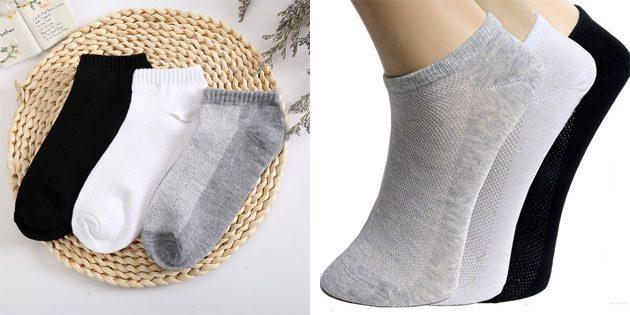 Красивые носки: короткие мужские хлопковые носки