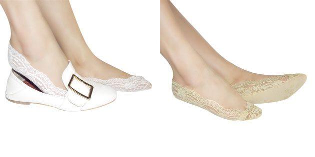 Красивые носки: кружевные носки-следки