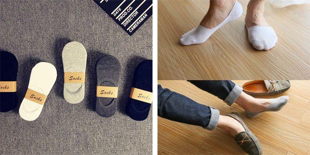 Красивые носки: мужские хлопковые носки-следки