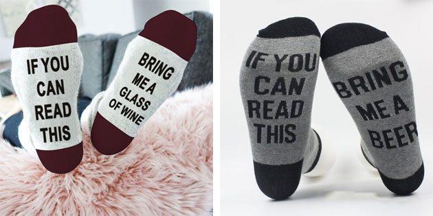 Красивые носки с надписями