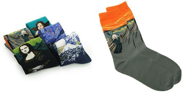 Красивые мужские носки с картинами