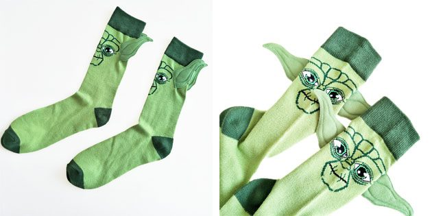 Красивые носки с мастером йодой