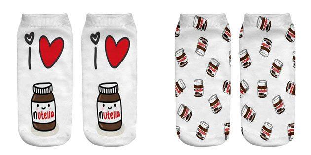 Красивые носки с «Нутеллой»