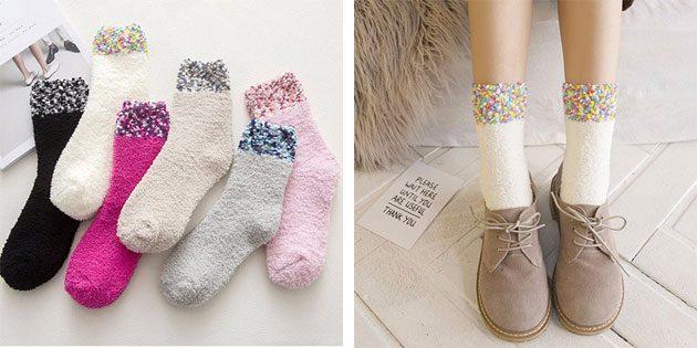 Красивые носки: Тёплые женские носки