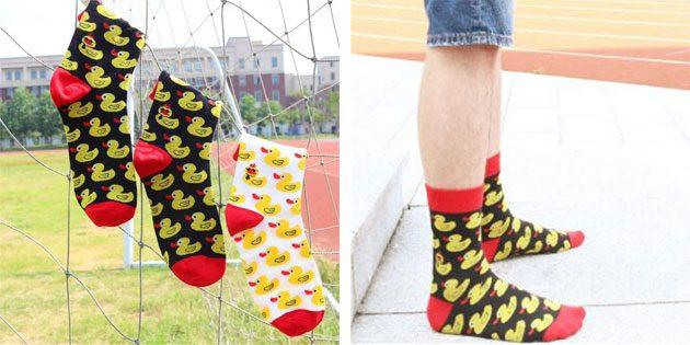 Красивые носки с уточками