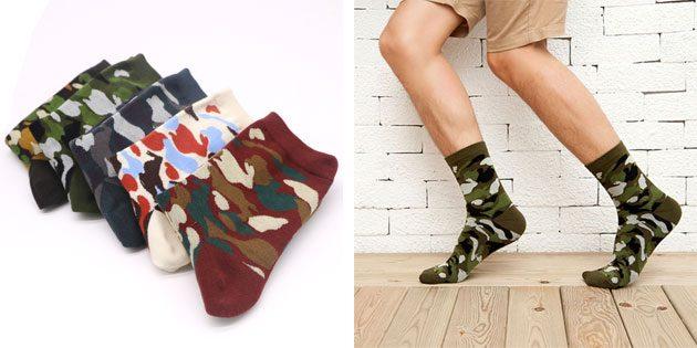 Красивые носки в стиле милитари