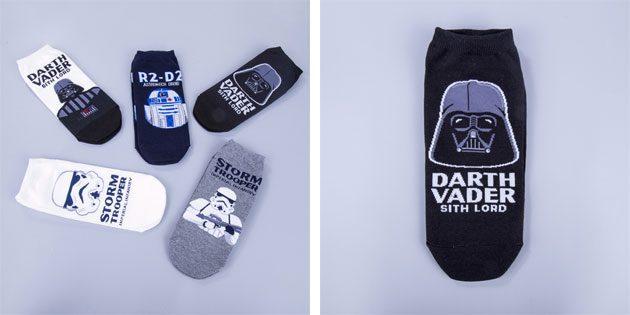 Красивые носки со «Звездными войнами»