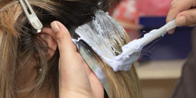 Краска для волос до первого смывания