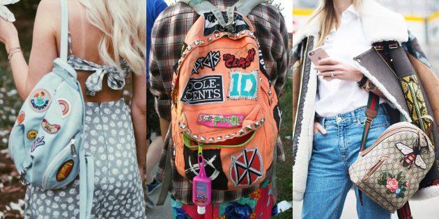 Самые модные рюкзаки с вышивками и патчами