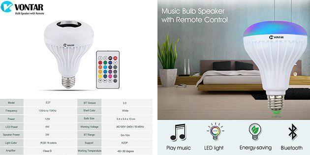Bluetooth-колонка + лампа