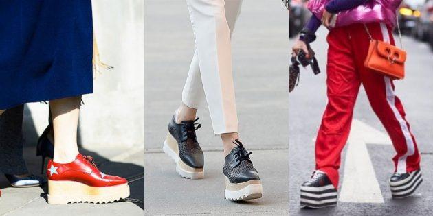 Модные вещи 2018: Обувь на смелой платформе