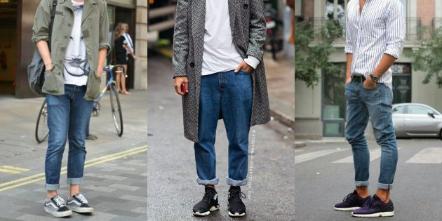 Самые модные мужские джинсы 2018 года: Джинсы с подворотами