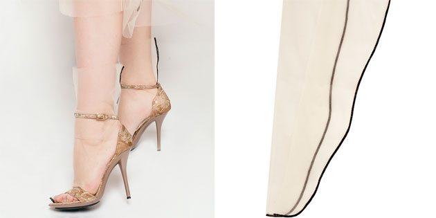 Красивые носки: прозрачные нейлоновые носки