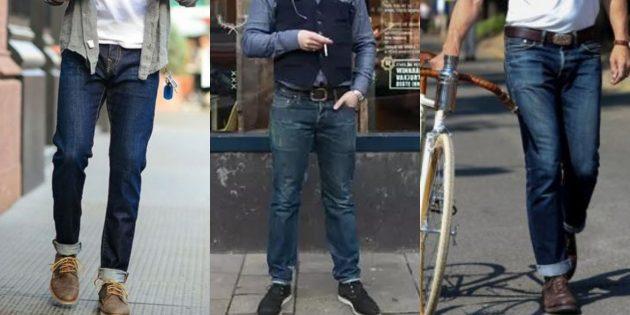 Самые модные мужские джинсы 2018 года: Джинсы из необработанного денима