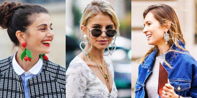 Модные вещи 2018: Серьги почти до плеч