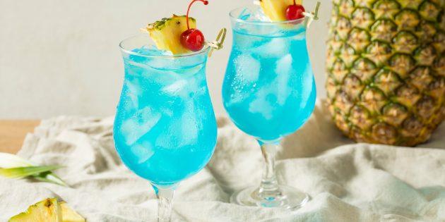 рецепты алкогольных коктейлей: Голубая лагуна