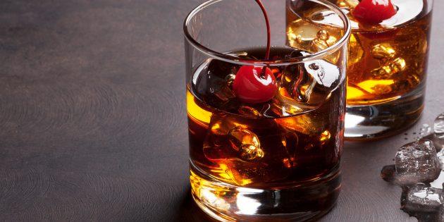 рецепты алкогольных коктейлей: Манхэттен