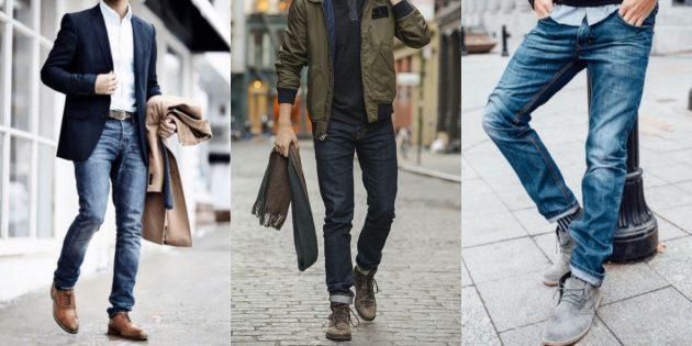 Самые модные мужские джинсы 2018 года: Джинсы слим