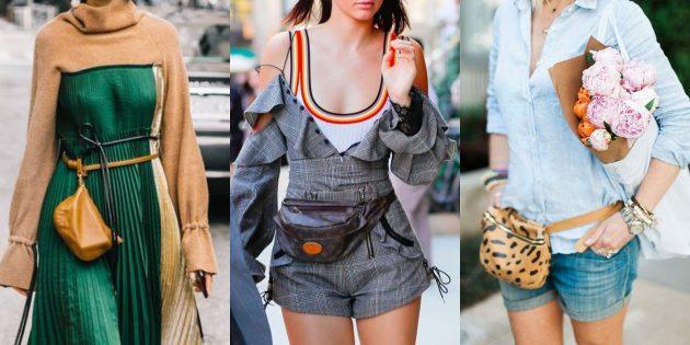 Модные вещи 2018: Поясные сумочки