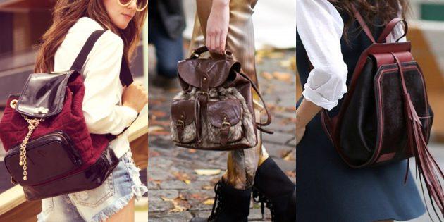 Самые модные рюкзаки с сочетанием разных текстур