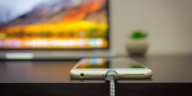зарядное устройство для iPhone: Шарик, вращающийся в трёх направлениях