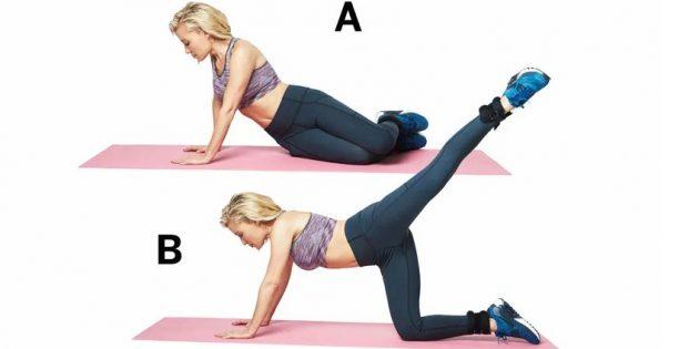 Лучшие упражнения для ног: Падения на бедро и махи по диагонали