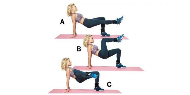Лучшие упражнения для ног: Подтягивания коленей