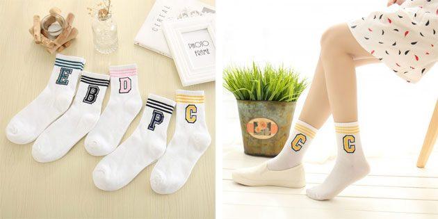 Красивые носки с буквами