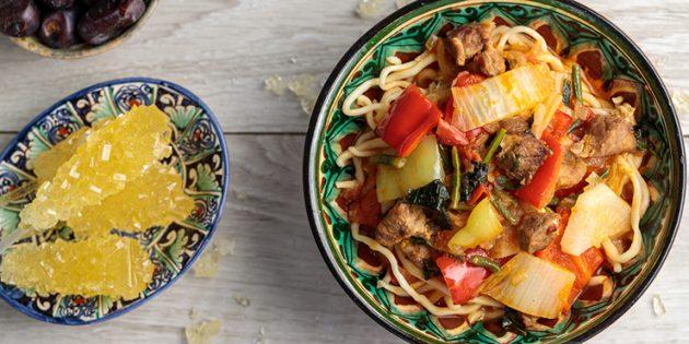 Рецепты: Лагман по-уйгурски