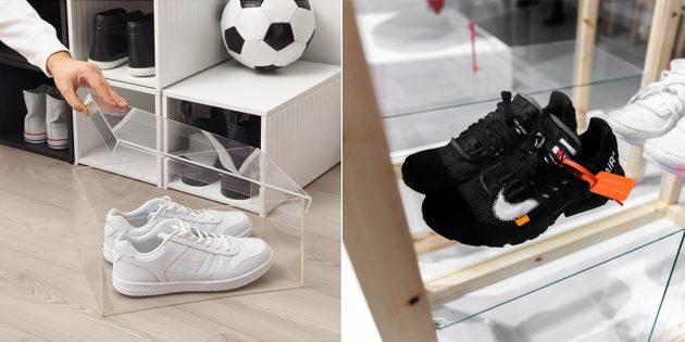 Новые кроссовки: система хранения