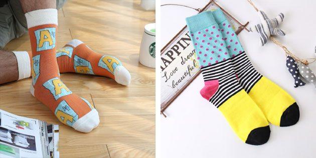 Красивые носки: мужские яркие носки
