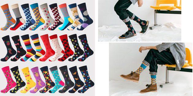 Красивые носки: яркие мужские носки