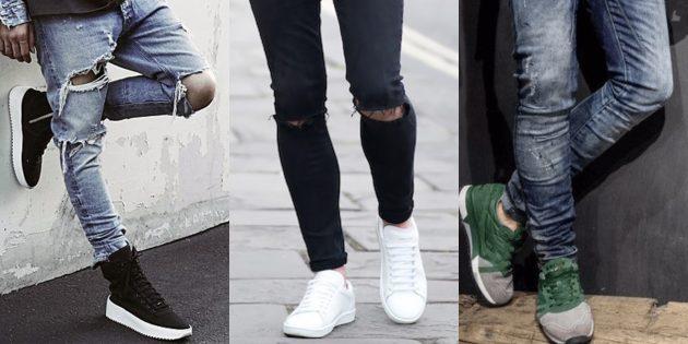 Самые модные мужские джинсы 2018 года: Зауженные от колена вниз