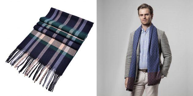 Недорогие подарки на 23Февраля: шарф