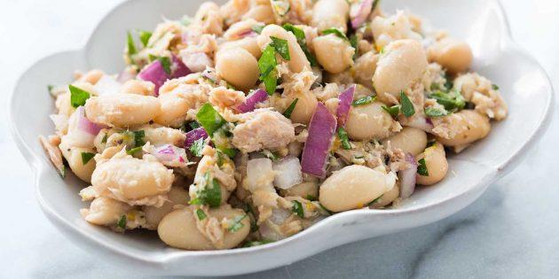 Быстрые и вкусные блюда: Салат из тунца