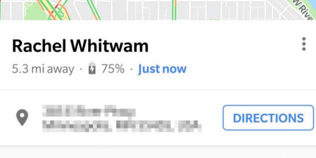 Карты Google покажут состояние батареи в смартфонах ваших контактов