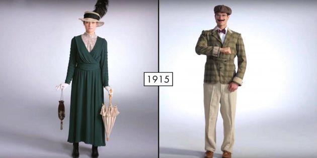 25 видео о том, как менялась мода за последние 100 лет