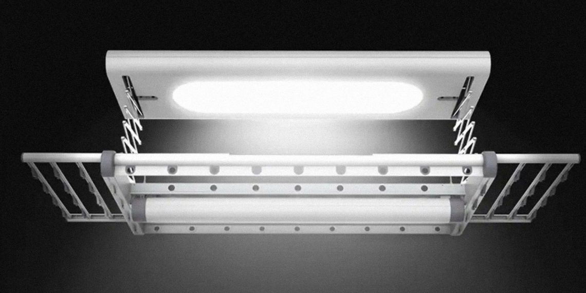 сушилка для белья: Встроенный светильник