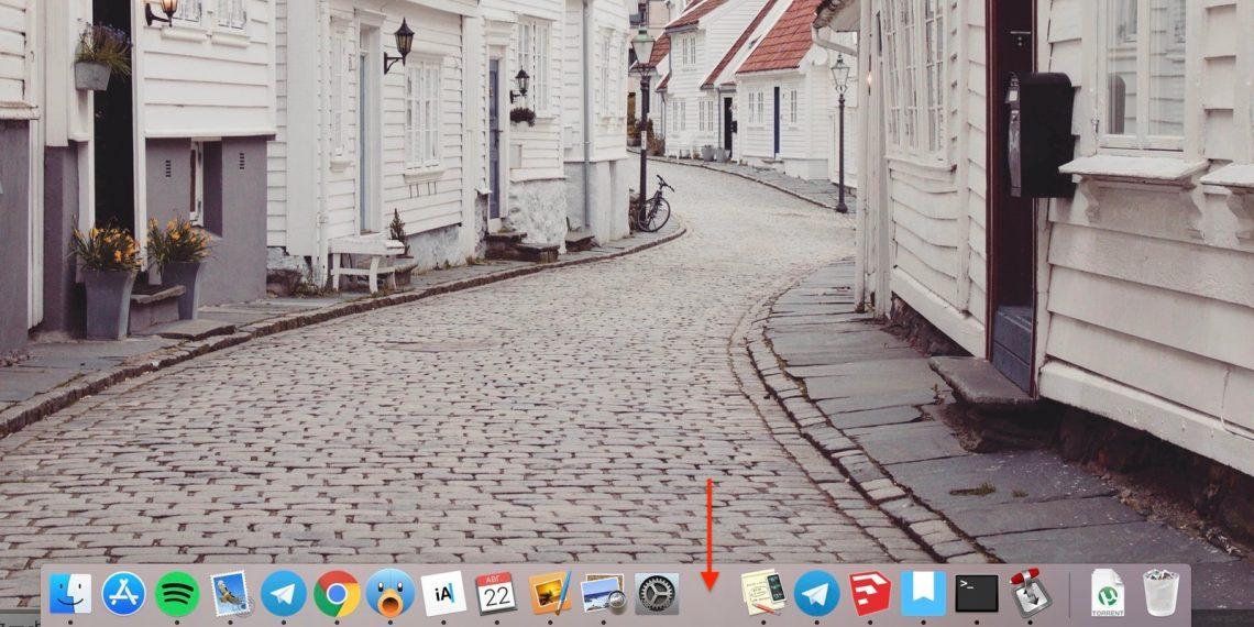 команды macOS: Добавление разделителя в док